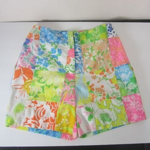 Vintage Lilly Pulitzer Patchwork Floral Shorts XS